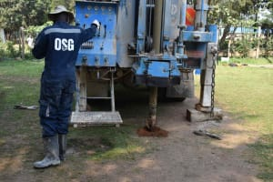 The Water Project: Bukhakunga Primary School -  Start Of Drilling Works