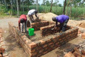 The Water Project: Bukhakunga Primary School -  Bick Wall