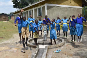 The Water Project: Bukhakunga Primary School -  Celebration At Water Point
