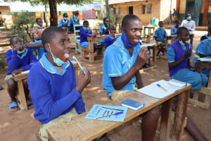 The Water Project: Bukhakunga Primary School -  Dental Hygiene Training
