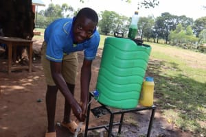 The Water Project: Bukhakunga Primary School -  Handwashing Demonstrating Handwashing Steps