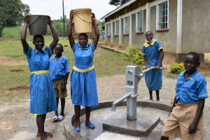 The Water Project: Bukhakunga Primary School -  Its Easier Getting Water At The Schools Grounds