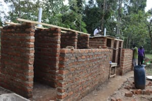 The Water Project: Bukhakunga Primary School -  Latrines Roofing