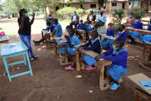 The Water Project: Bukhakunga Primary School -  Ongoing Training Under A Shade
