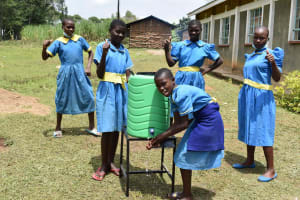 The Water Project: Bukhakunga Primary School -  Posing By The Handwashing Facilities