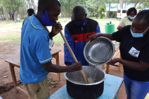 The Water Project: Bukhakunga Primary School -  Soap Making Training