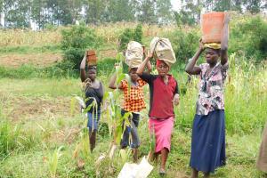 The Water Project: Khunyiri Community, Edward Spring -  Bringing Bricks