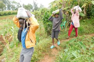 The Water Project: Khunyiri Community, Edward Spring -  Toting Cement