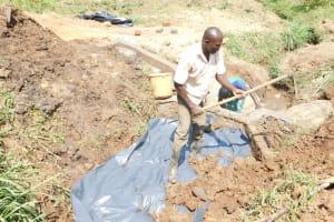 The Water Project: Khunyiri Community, Edward Spring -  Back Filling