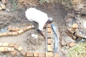 The Water Project: Khunyiri Community, Edward Spring -  Brickwork Begins