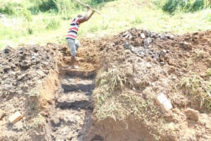The Water Project: Khunyiri Community, Edward Spring -  Building Stairs