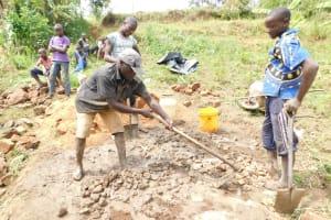 The Water Project: Khunyiri Community, Edward Spring -  Community Members Helping