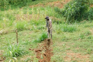 The Water Project: Khunyiri Community, Edward Spring -  Diversion Channels