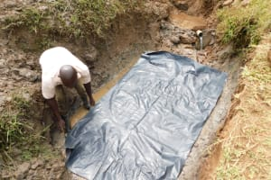 The Water Project: Khunyiri Community, Edward Spring -  Drainage Channel