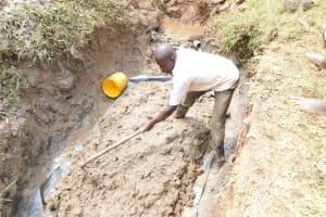 The Water Project: Khunyiri Community, Edward Spring -  Foundation In Progress