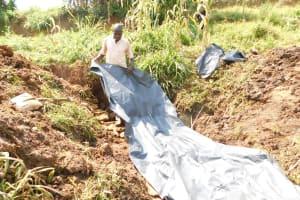 The Water Project: Khunyiri Community, Edward Spring -  Plastic Tarp