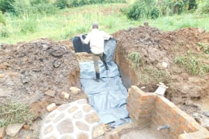 The Water Project: Khunyiri Community, Edward Spring -  Stairs In Progress