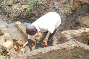 The Water Project: Khunyiri Community, Edward Spring -  Wall Construction