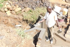 The Water Project: Khunyiri Community, Edward Spring -  Walls Almost Done