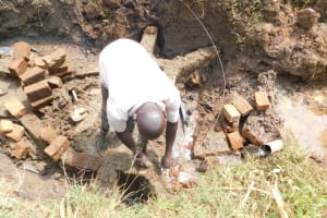 The Water Project: Khunyiri Community, Edward Spring -  Walls In Progress