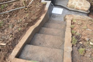 The Water Project: Khunyiri Community, Edward Spring -  Completed Stairs