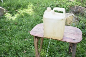 The Water Project: Khunyiri Community, Edward Spring -  Leaky Tin