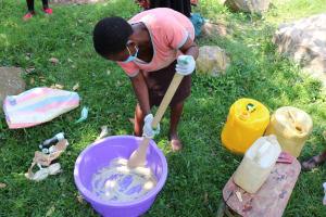 The Water Project: Khunyiri Community, Edward Spring -  Mixing Soap