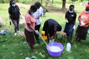 The Water Project: Khunyiri Community, Edward Spring -  Soap Making