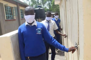 The Water Project: St. Stephens ACK Eshiakhulo Secondary School -  Boys V I P Latrines