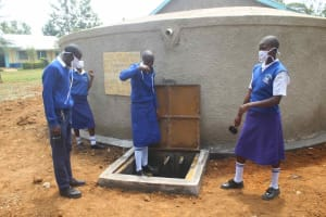 The Water Project: St. Stephens ACK Eshiakhulo Secondary School -  Clean Water Flowing
