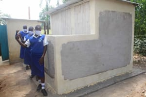 The Water Project: St. Stephens ACK Eshiakhulo Secondary School -  Girls V I P Latrine