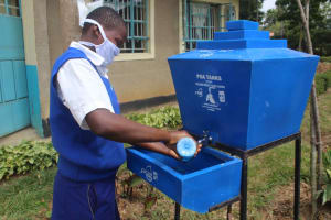 The Water Project: St. Stephens ACK Eshiakhulo Secondary School -  Handwashing Session