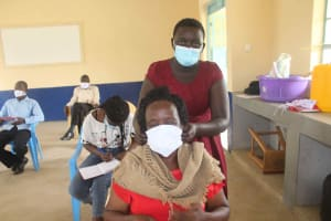 The Water Project: St. Stephens ACK Eshiakhulo Secondary School -  Learning Masking