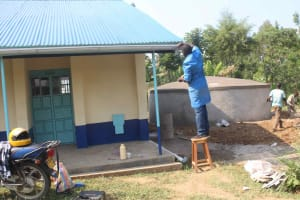 The Water Project: St. Stephens ACK Eshiakhulo Secondary School -  Placing Of Gutters
