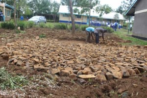 The Water Project: St. Stephens ACK Eshiakhulo Secondary School -  Setting Foundation