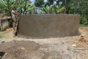 The Water Project: St. Stephens ACK Eshiakhulo Secondary School -  Setting Walls