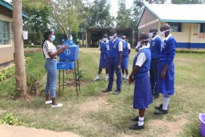 The Water Project: St. Stephens ACK Eshiakhulo Secondary School -  Trainer Mercy