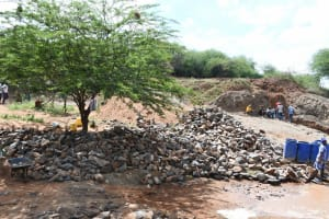 The Water Project: Yathui Community A -  A Lot Of Stone