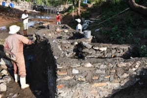 The Water Project: Yathui Community A -  Plastering