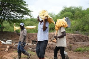 The Water Project: Yathui Community A -  Pump Incoming