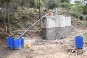 The Water Project: Yathui Community A -  Yield Test