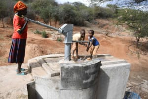 The Water Project: Yathui Community A -  Francesca And Boys