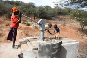The Water Project: Yathui Community A -  Pump In Use