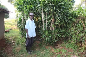 The Water Project: Murumba Community, Patrick Muyembere Spring -  Bathing Shelter