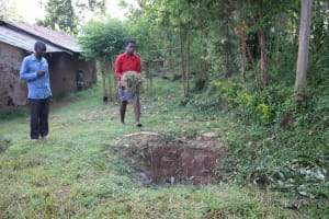 The Water Project: Murumba Community, Patrick Muyembere Spring -  Garbage Pit