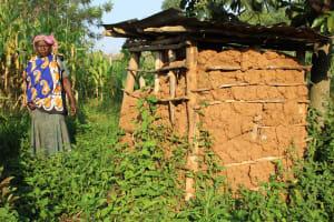 The Water Project: Murumba Community, Patrick Muyembere Spring -  Latrine