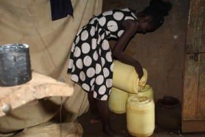 The Water Project: Murumba Community, Patrick Muyembere Spring -  Storing Water