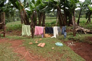 The Water Project: Chimoroni Community, Maurice Luta Spring -  Clothesline