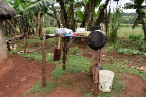The Water Project: Chimoroni Community, Maurice Luta Spring -  Dishrack