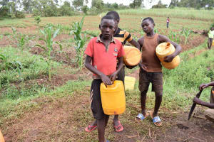 The Water Project: Chimoroni Community, Maurice Luta Spring -  Boys Waiting At Water